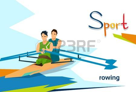 Rowing race clipart #9