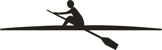 Rowing Shell Clipart.