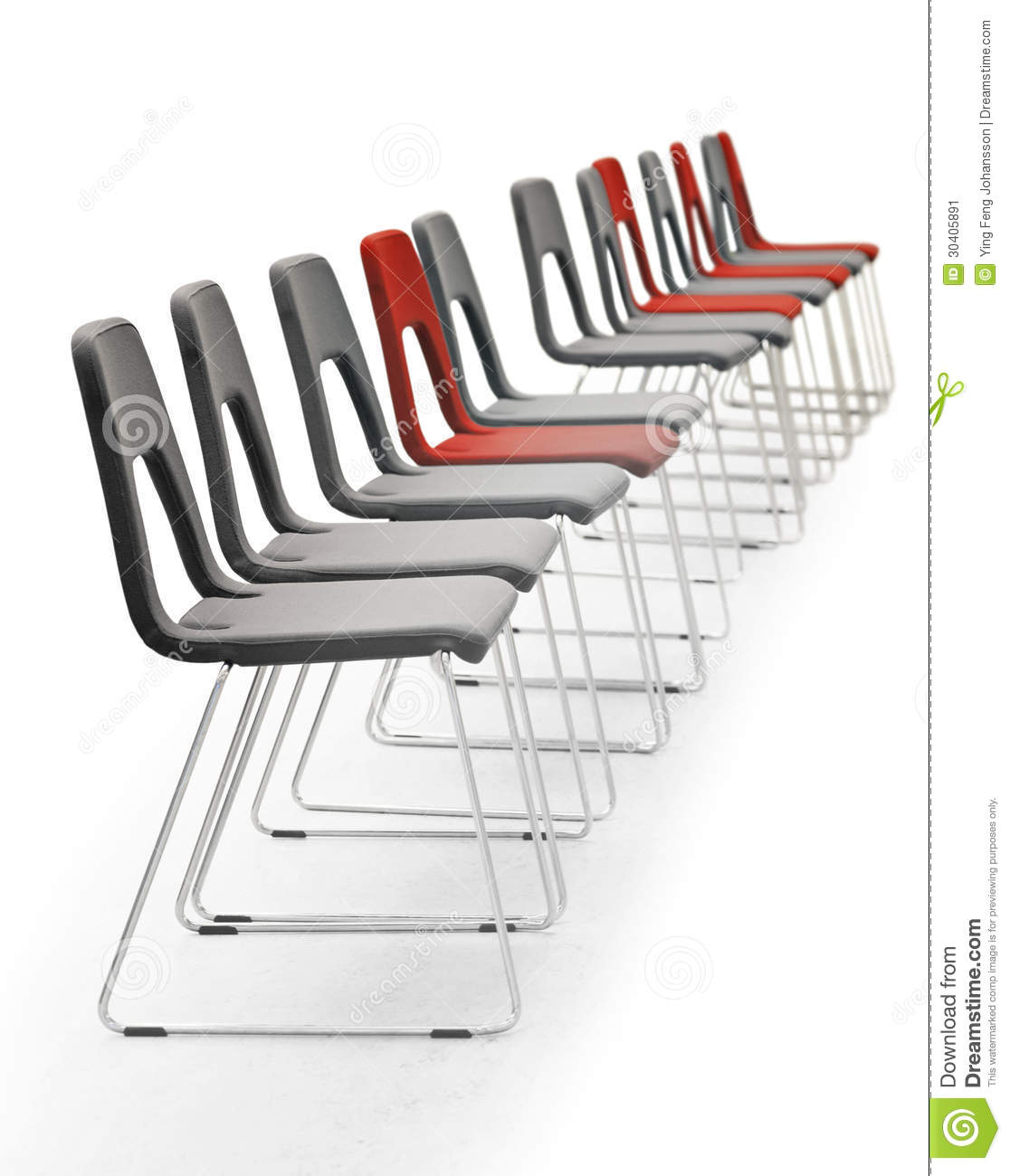 Row Of Chairs Stock Image.