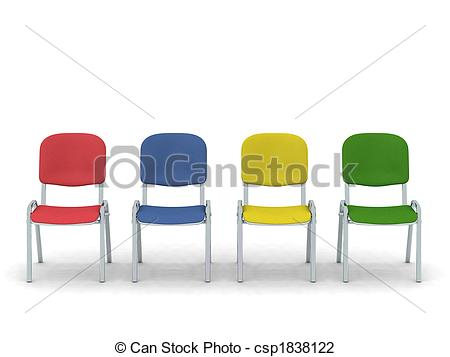 Row of chairs clipart.