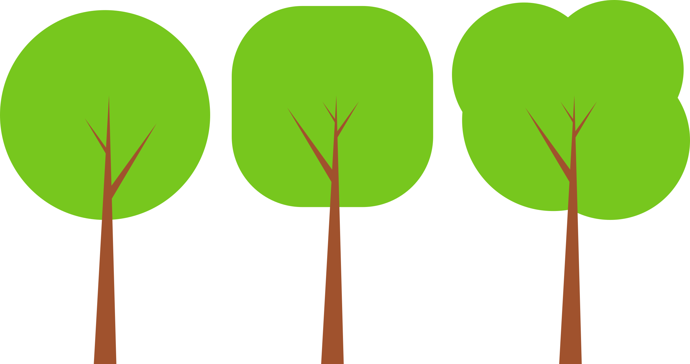 Clip Art Row of Trees.