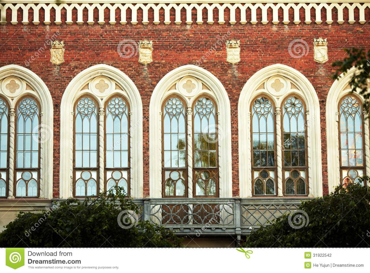 Beautiful Rows Of Windows Stock Photography.