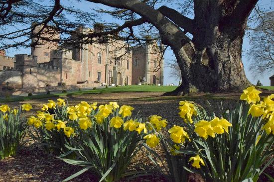 Rowton Castle front view in early Spring.