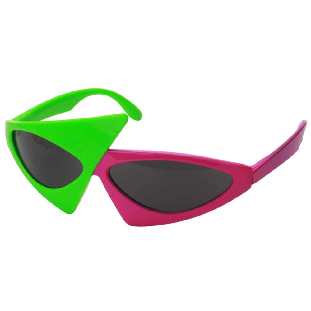 Novelty Green Pink Contrast Color Glasses Roy Purdy Style Hip.