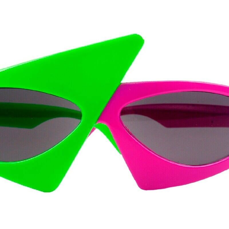 Details about HipHop Green Pink Contrast Roy Purdy Asymmetric Triangular  Hip.