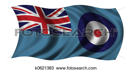 Drawing of Flag of the Royal Air Force k0621383.