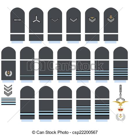 Clip Art Vector of Royal Air Force insignia.