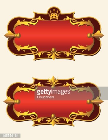 Royal Banner Clipart Image.