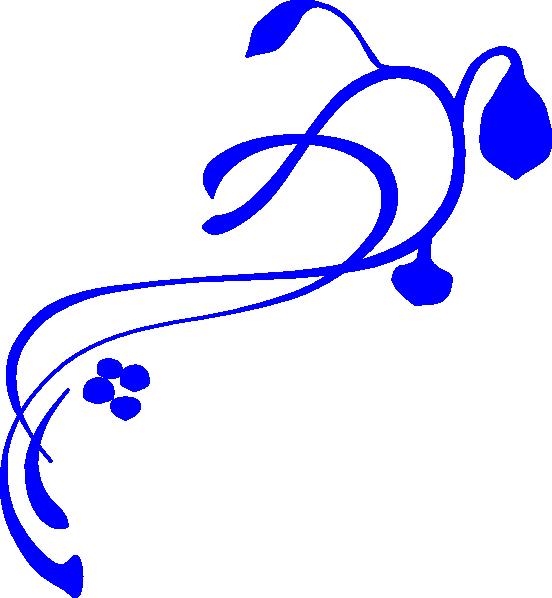 Hanging Vine Royal Blue Clip Art at Clker.com.