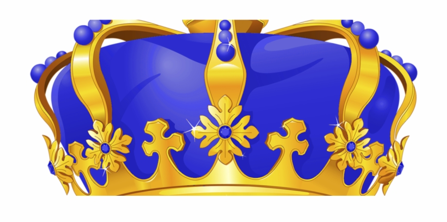 Royal Blue And Gold Crown Png , Png Download.
