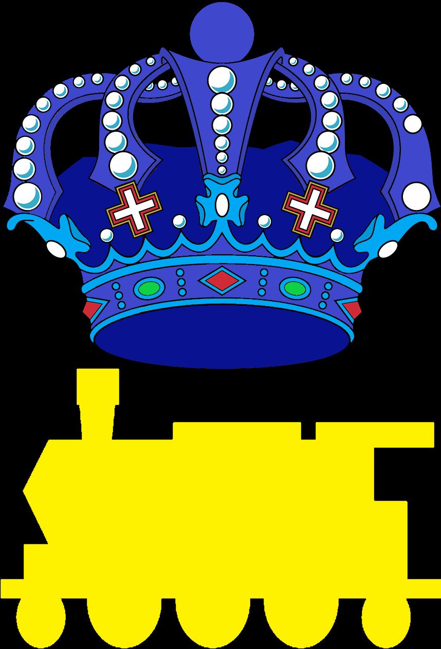 HD Blue Royal Crown , Png Download.