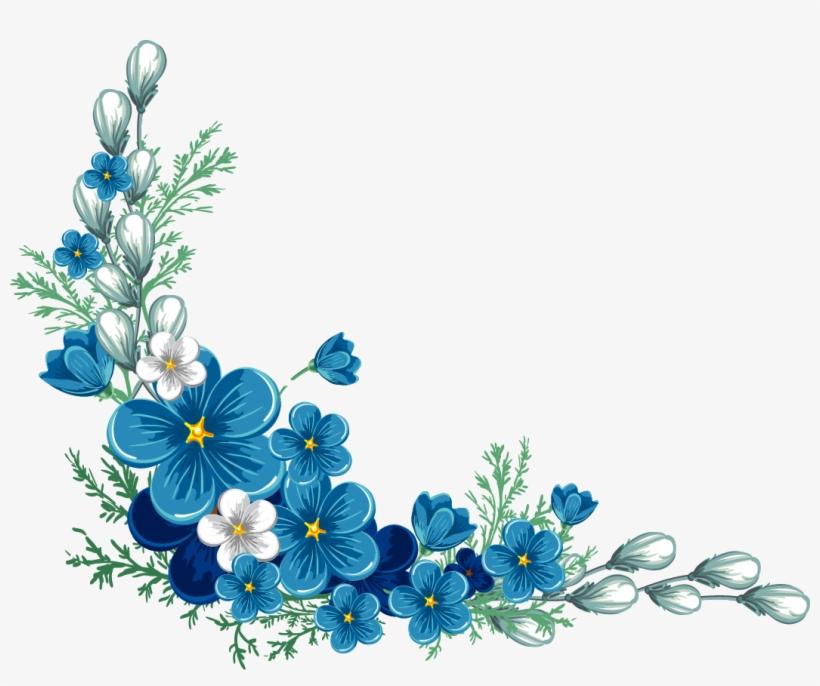 Blue Flower Border Png Image Freeuse.
