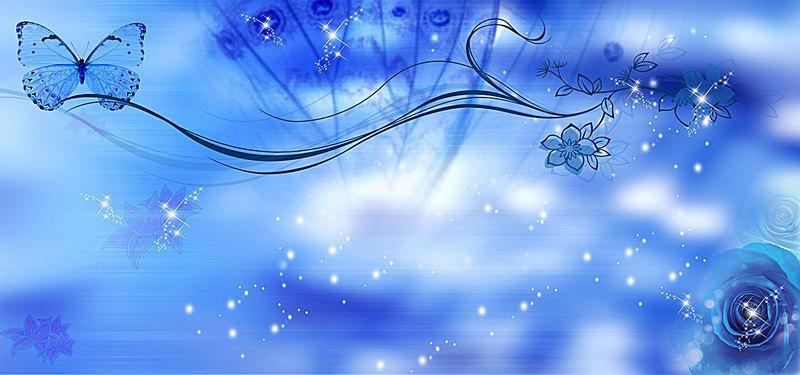 Blue Rose Butterfly Background, Butterfly, Wedding, Blue.
