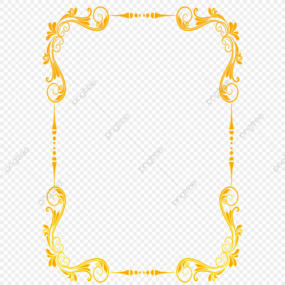 Beautiful Gold Lace Royal Border Png Clipart, Gold Lace Png.