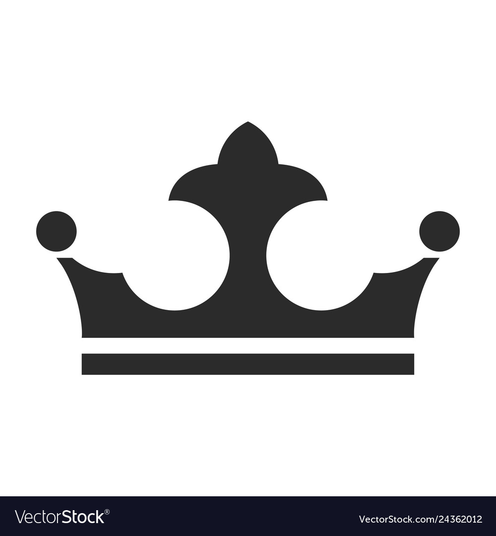 Royal crown icon authority and jewelry symbol.