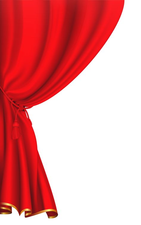 Red Curtain Clipart Image.