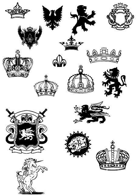 European royal design elements Clipart Picture Free Download.