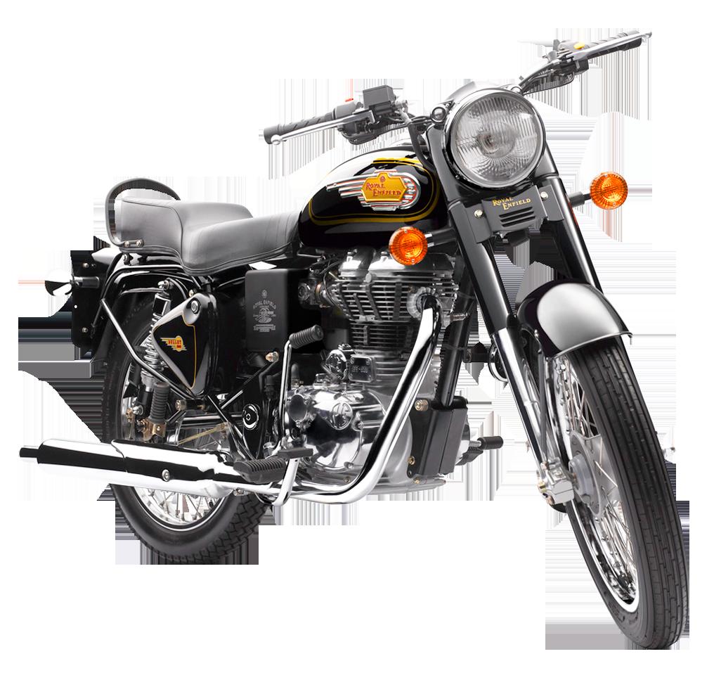 Royal Enfield Bullet 500 Motorcycle Bike PNG Image.