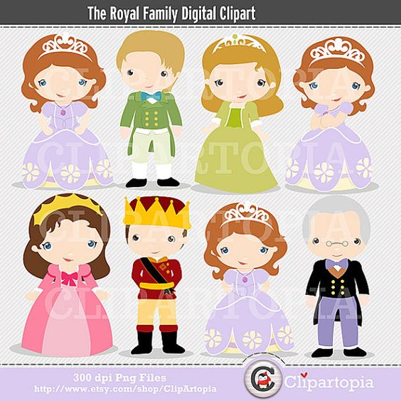 The Royal Family Digital Clipart for Personal and Commercial Use.
