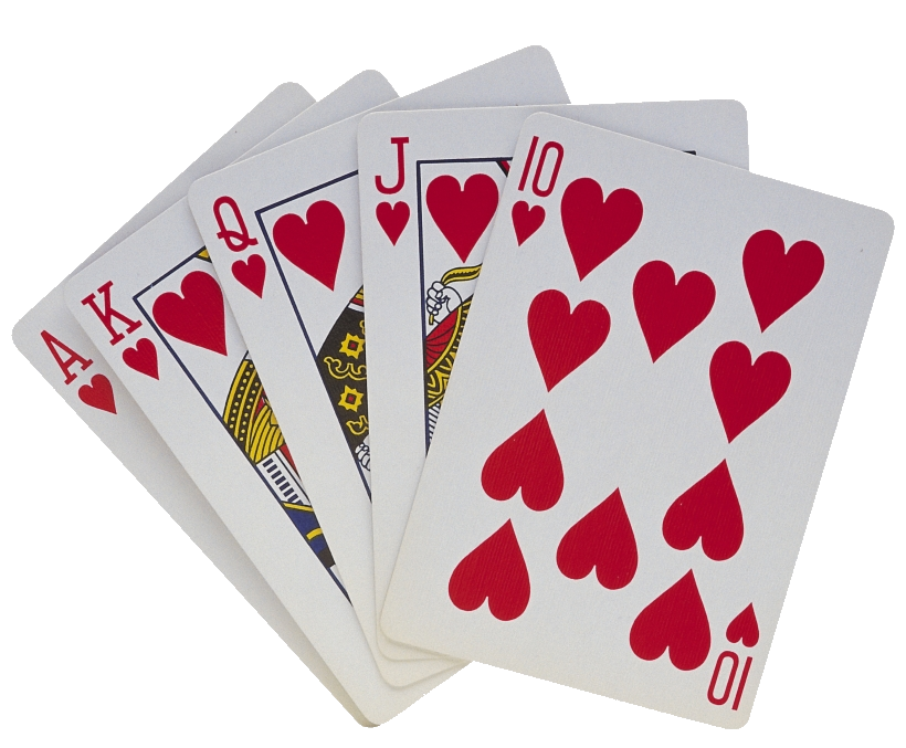 Playing Cards Freeuse Library Card Royal Flush Clip Art.