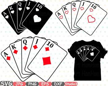 Royal flush clipart 1 » Clipart Station.