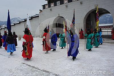 Changing Of The Guard At Gyeongbokgung Palace Editorial.