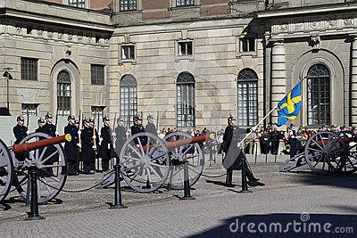 Swedish Royal Palace's Guards Editorial Stock Image.