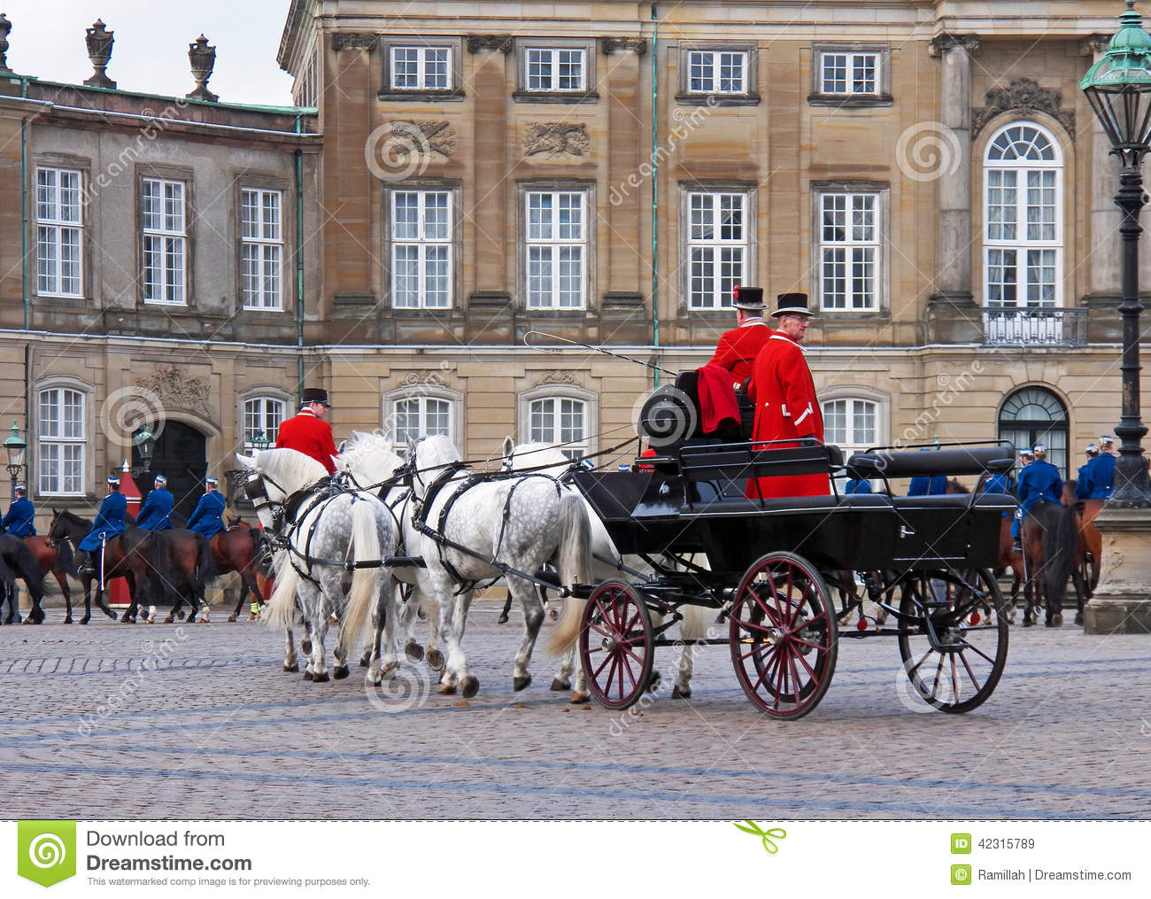 Horse Carriage During The Guards Changing Ceremony Editorial Stock.