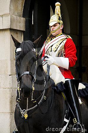 Royal Horse Guard Royalty Free Stock Photography.