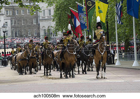 Stock Photo of Royal Horse Guards of the cavalry regiment in.