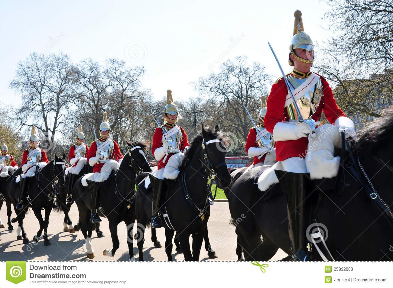 Royal Horse Guards, England Editorial Stock Photo.