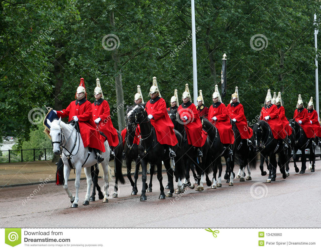 Royal Horse Guards In London Editorial Image.