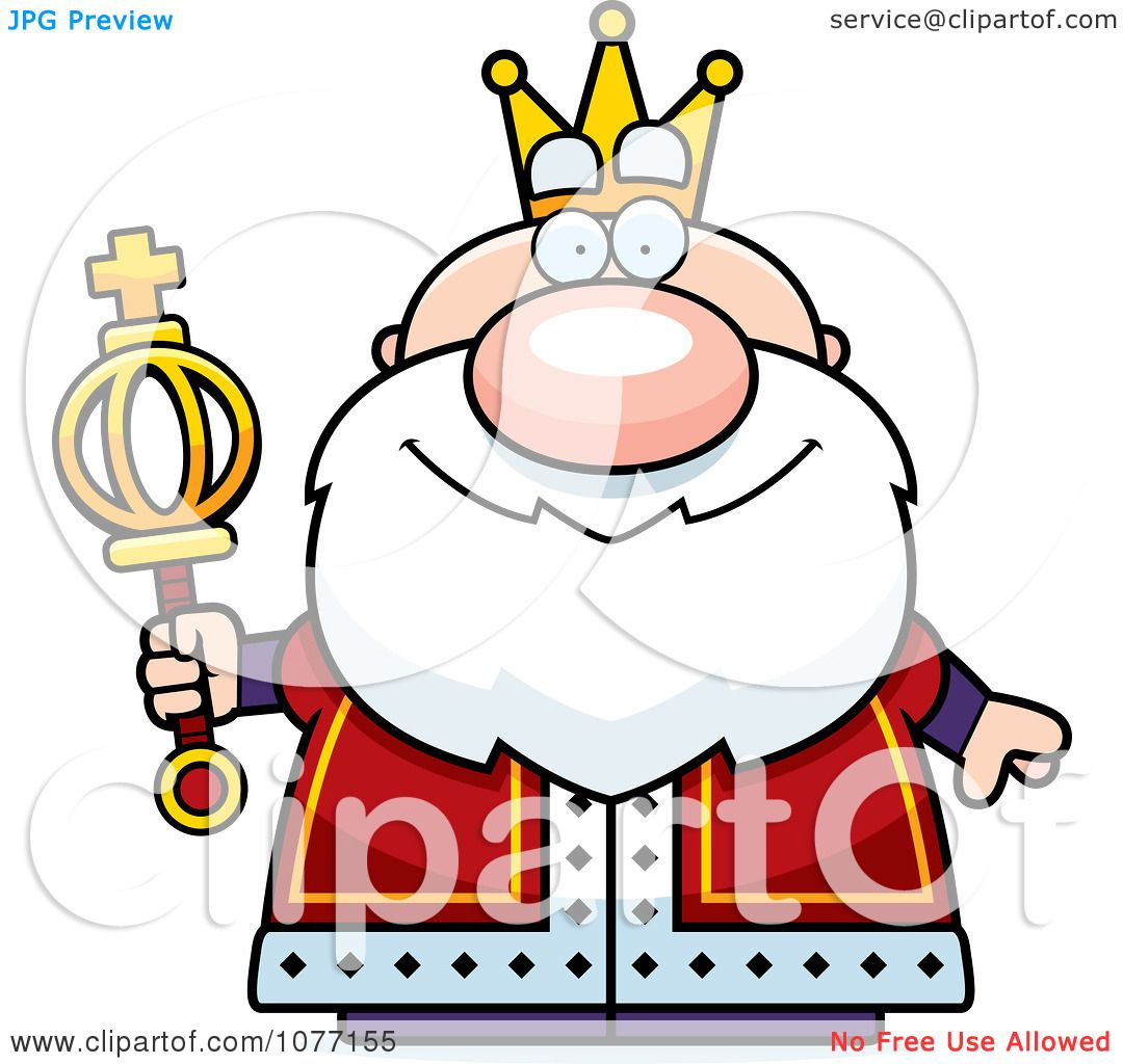 Clipart Royal King Holding A Scepter.