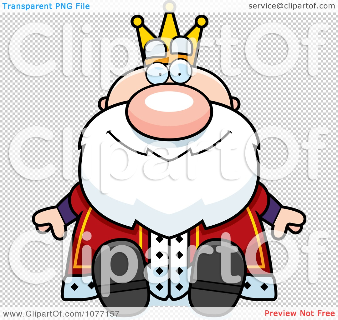Clipart Sitting Royal King.