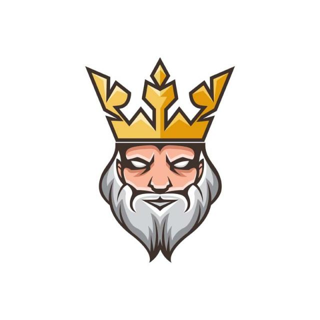 Modern Charismatic Royal King Logo Template for Free.
