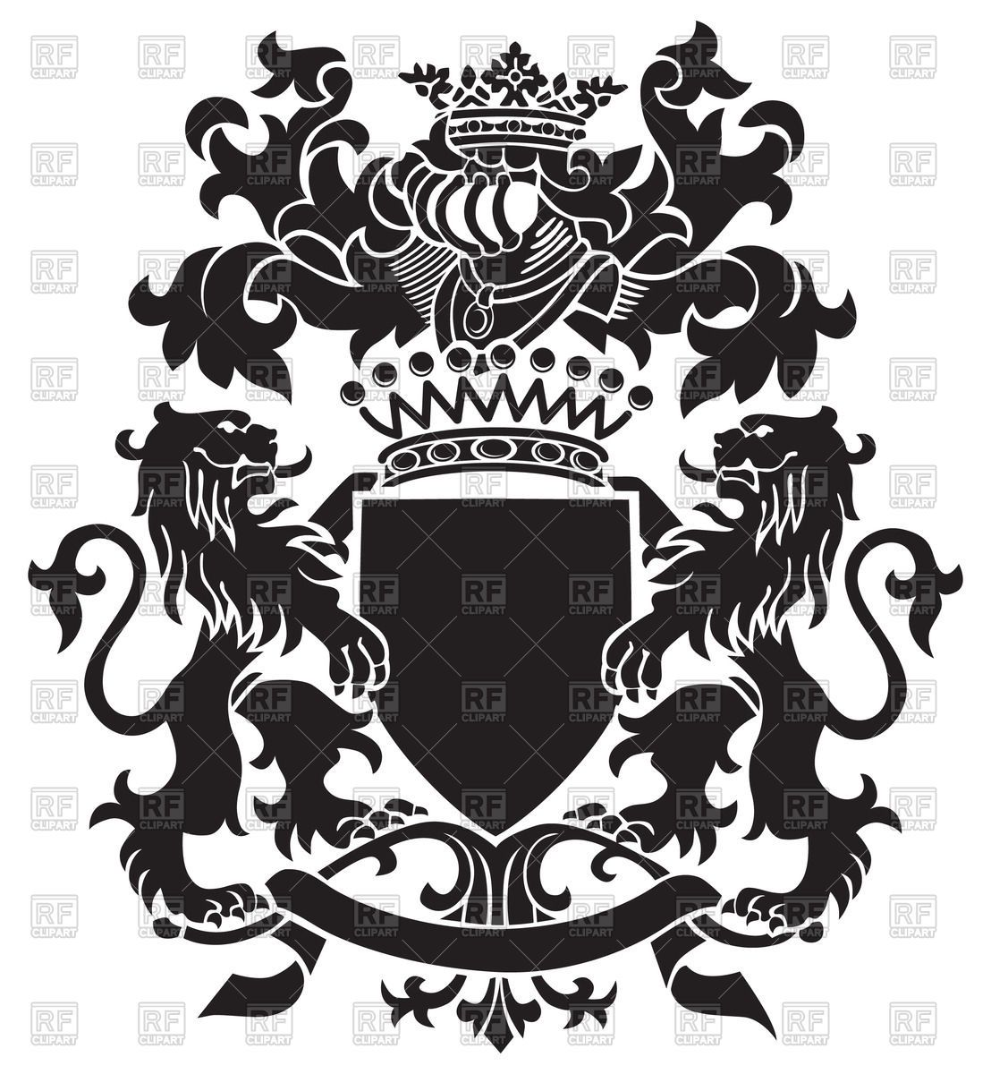 Medieval heraldic emblem.