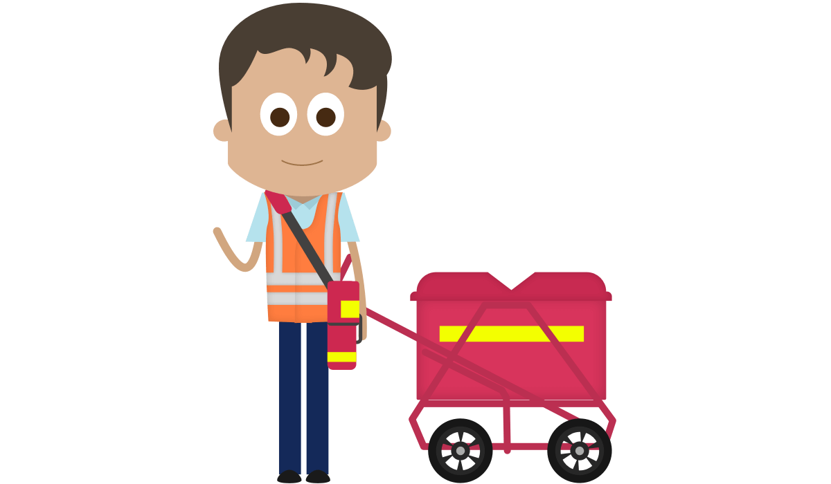 Royal Mail tracked packet delivery with.