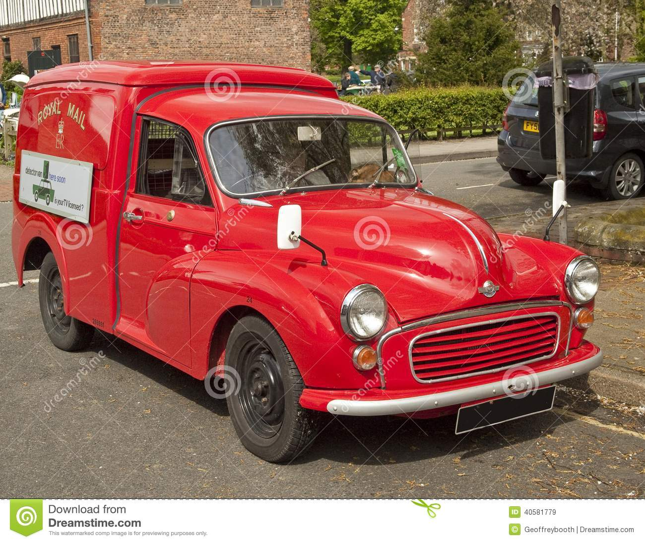 Early Royal Mail Delivery Van, Recently Restored. Editorial Stock.