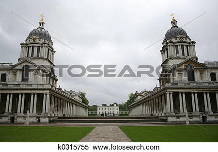 Stock Image of Royal naval college, Greenwich k0315755.