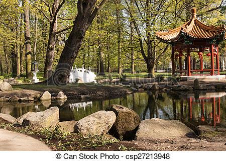 Stock Photo of Warsaw.Lazienki(Bath)Royal Park.Chinese Garden.