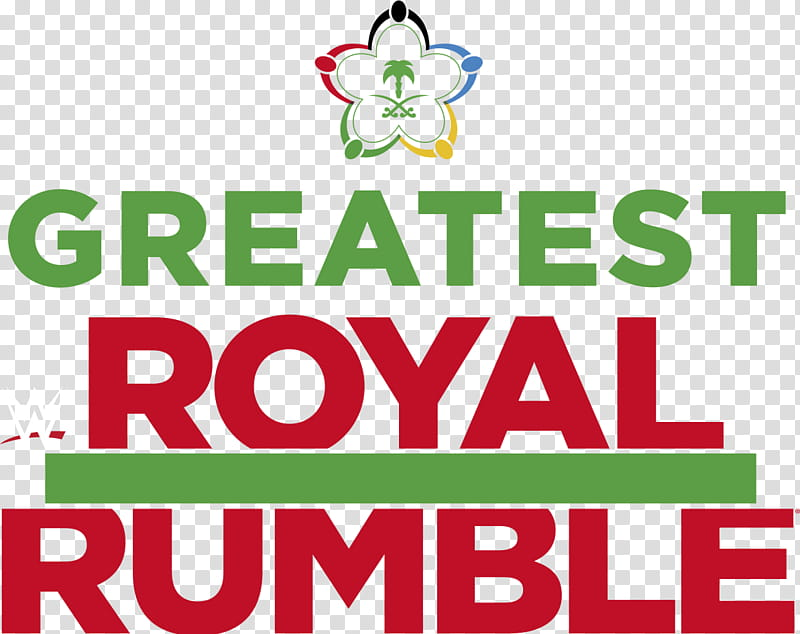 WWE Greatest Royal Rumble Logo transparent background PNG.