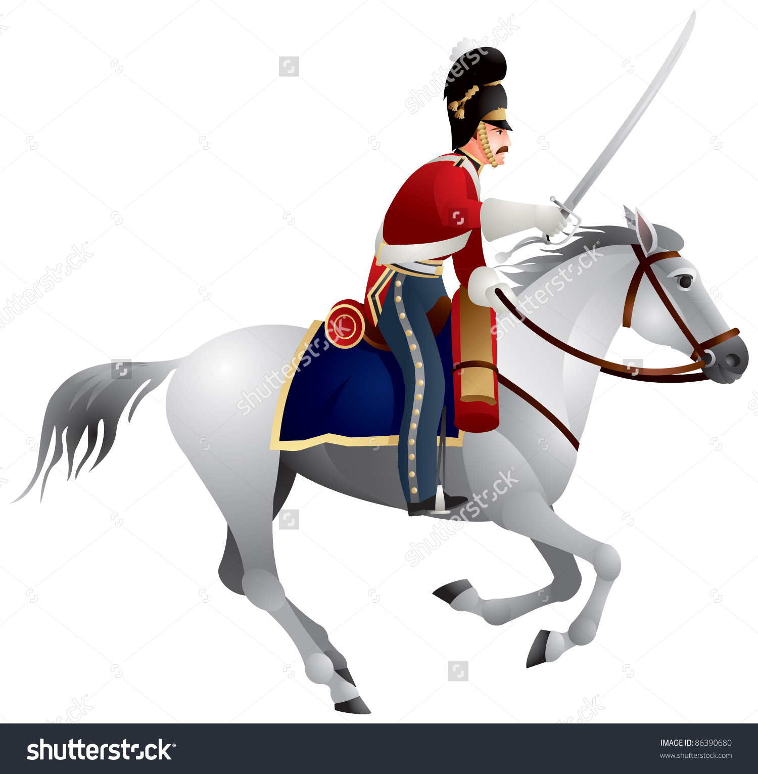 Royal Scots Greys British Army Cavalry Stock Vector 86390680.