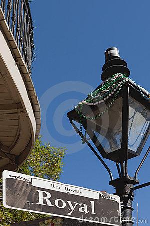 Royal Street Royalty Free Stock Image.