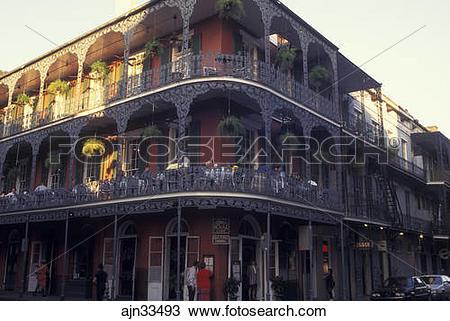Stock Photo of New Orleans, LA, Louisiana, French Quarter, Royal.