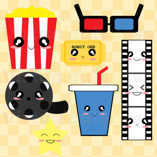Cute Movie Theater Clipart.