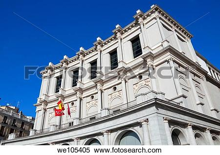 Stock Image of ?Teatro Real?, Royal Theatre, Oriente Square.