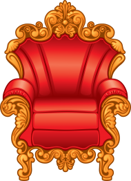 Download clipart of a red and gold royal king\'s throne chair.