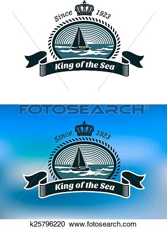Clipart of Emblem of the royal yacht club k25796220.