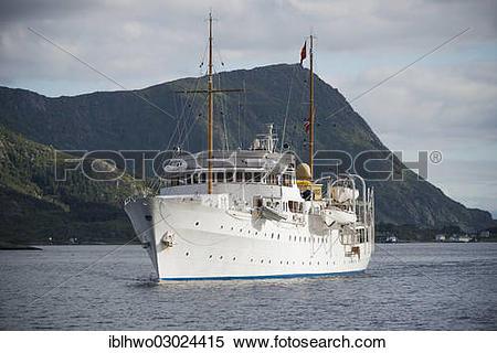 "Stock Image of ""Royal yacht """"""""Norge"""""""" in Vestfjord, Vestfjord."