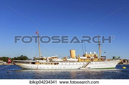 Stock Photography of The Royal Yacht Dannebrog, Copenhagen.